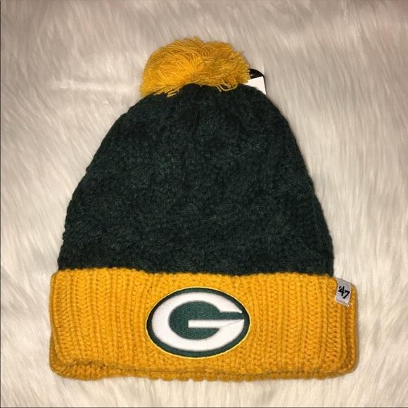 8724d54f1e1f6 Womens Green Bay Packers Logo Knit Sock Hat New